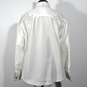 ENGLISH LAUNDRY Mens Shirt Angel Wings Size XL